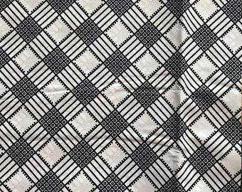 A6124 6yd Black white checkerboard African Fabric/Print/ ankara/ ethnic cloth/ traditional cloth/ home decor pillow/ Doll cloth/ Sewing