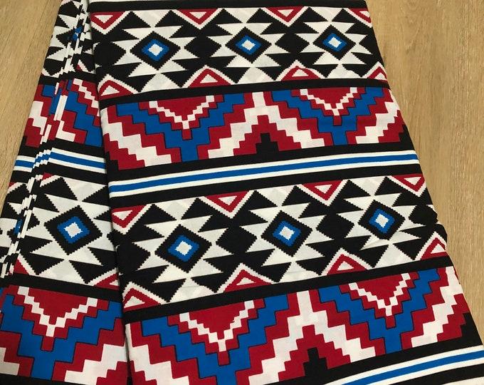 MC152 african fabric yard white blue red green African Wax print/ Ankara for Sewing Dress/ art craft/ African home decor
