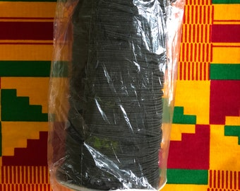 BES10 10 yards (1/8)inch BLACK flat elastic/ african craft/ face masks/ hair bands