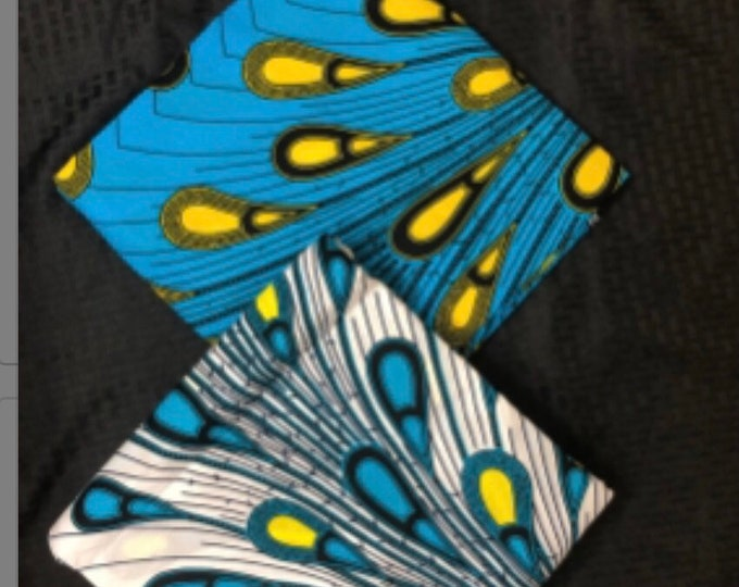 MM92 3 yards each blue White rain drop peacock Mix aNd Match African Wax/ African Fabric/ankara/ Material/ decor pillows/ african