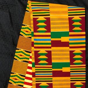BRN1 african fabric per yard orange brown beige eye kente Wax print kente cloth Materialhead wrap