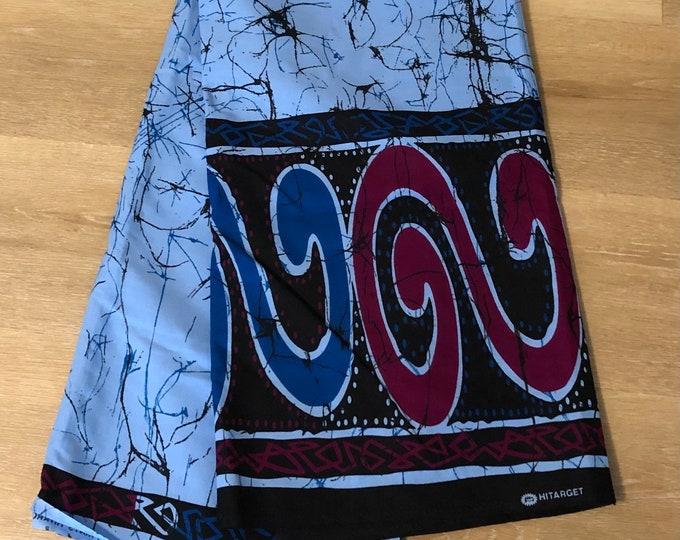 MC90 african fabric per yard blue pink tie dye Design ankara/ african Material/ Cloth/ wrapper/Head tie