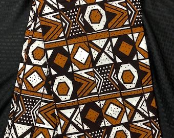 MC89 african fabric per yard black Brown white black mud cloth African Wax print/ Ankara for Dress/ African cloth doll
