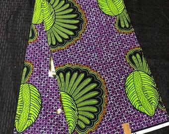 6 yard Purple Green kwadusa peacock Doll Cloth/ african Material/ ethnic fabric /African Fabric/African wax print/ Ankara