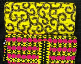 MM460 3 yards Each Pink /yellow orange  Mix and Match African Fabric/ ankara/ african print/ Material/ ethnic print/Doll cloth