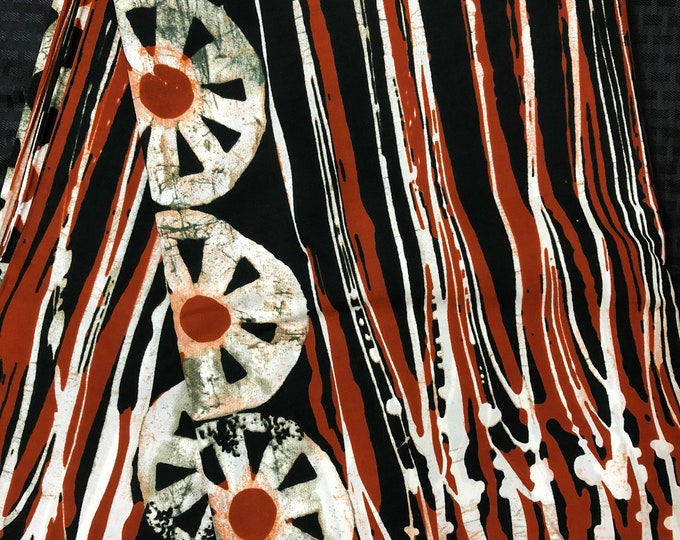 MC48 African fabric per yard White/ brown/ mud cloth Kitenge African Wax print/ Ankara for Sew Dress/ African Art