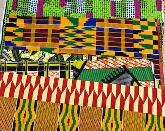 SC1 12x22 inch african fabric scraps/ fat sixth/ Kitenge/ankara scraps