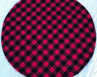 Buffalo Plaid Round Baby Playmat