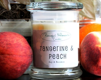 Tangerine & Peach- Soy and Beeswax Candle