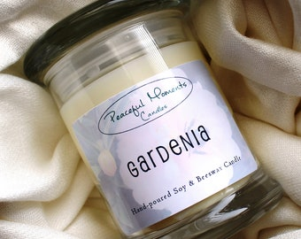 Gardenia- Soy and Beeswax Candle