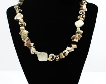 Light brown shell necklace