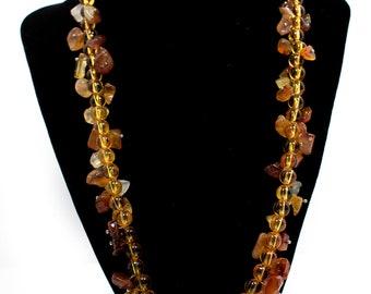 Orange Necklace Unique with interesting details and a pendant