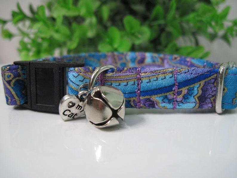 Purple Paisley Cat Collar