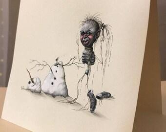Poor Frosty (Original Card)