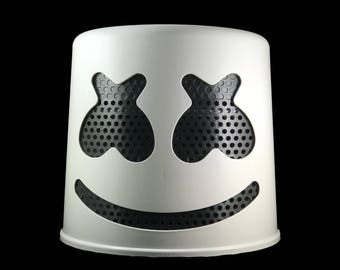 Marshmello Helmet (White Helmet with Black Mask)