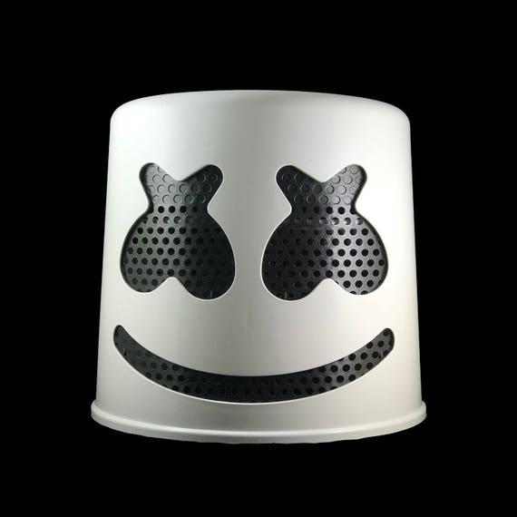 Marshmello Helmet White Helmet With Black Mask