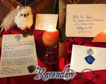 Wizarding Prefect Letter and Pin - Personalized & Handwritten - Slytherin - Hufflepuff - Gryffindor - Ravenclaw
