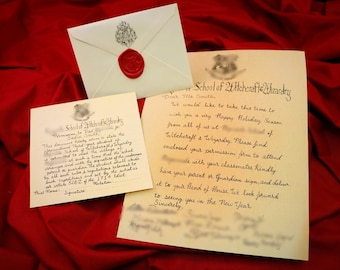 wizarding christmas letters acceptance letter hogsmeade letter personalized and handwritten