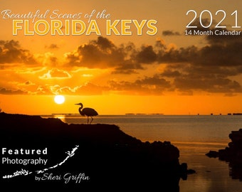2021 Florida Keys Calendar /Scenic photography/FREE SHIPPING/island themed scenic photo calendar/Key West Gift/arrives first week in January