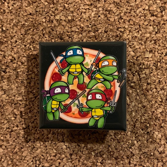TMNT Teenage Mutant Ninja Turtles Comics Movie Collectors Button Pin New NOS Set