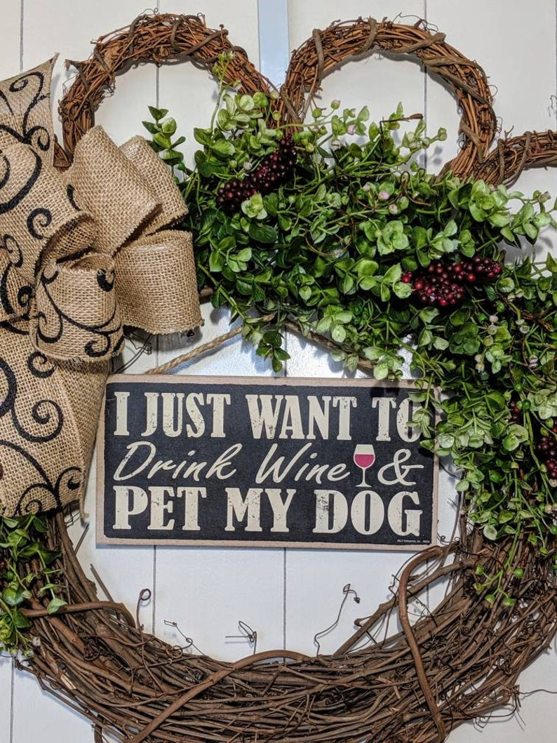 rescue dog Dog lover gift Pet decor Paw Print Wreath Dog lover wreath pet groomer gift Pet lover wreath veterinarian gift Dog wreath