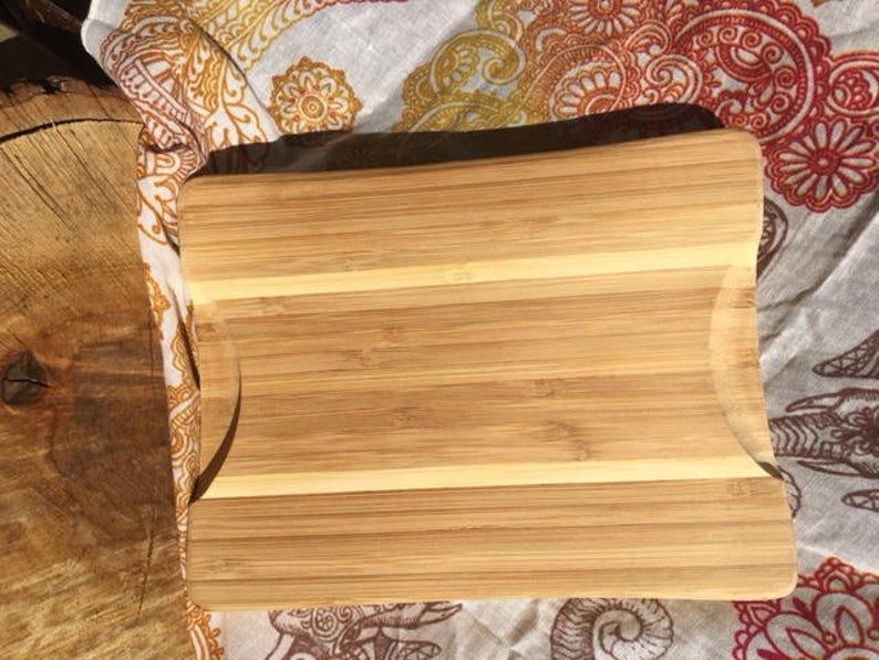 Snow | Flower bamboo cutting board
