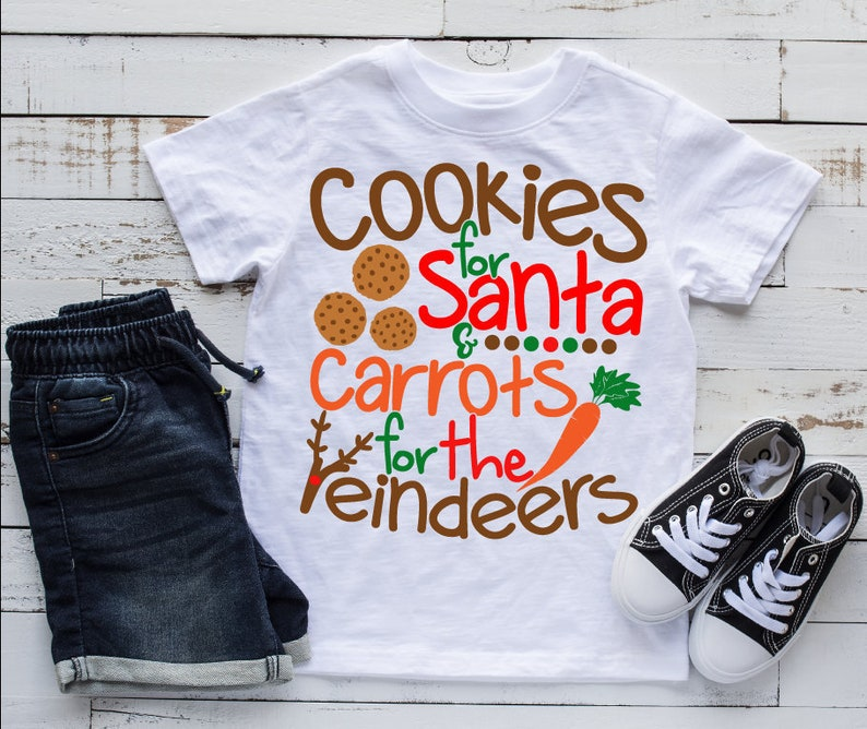 Cookies For Santa And Carrots For The Reindeers Svg Xmas Svg Etsy