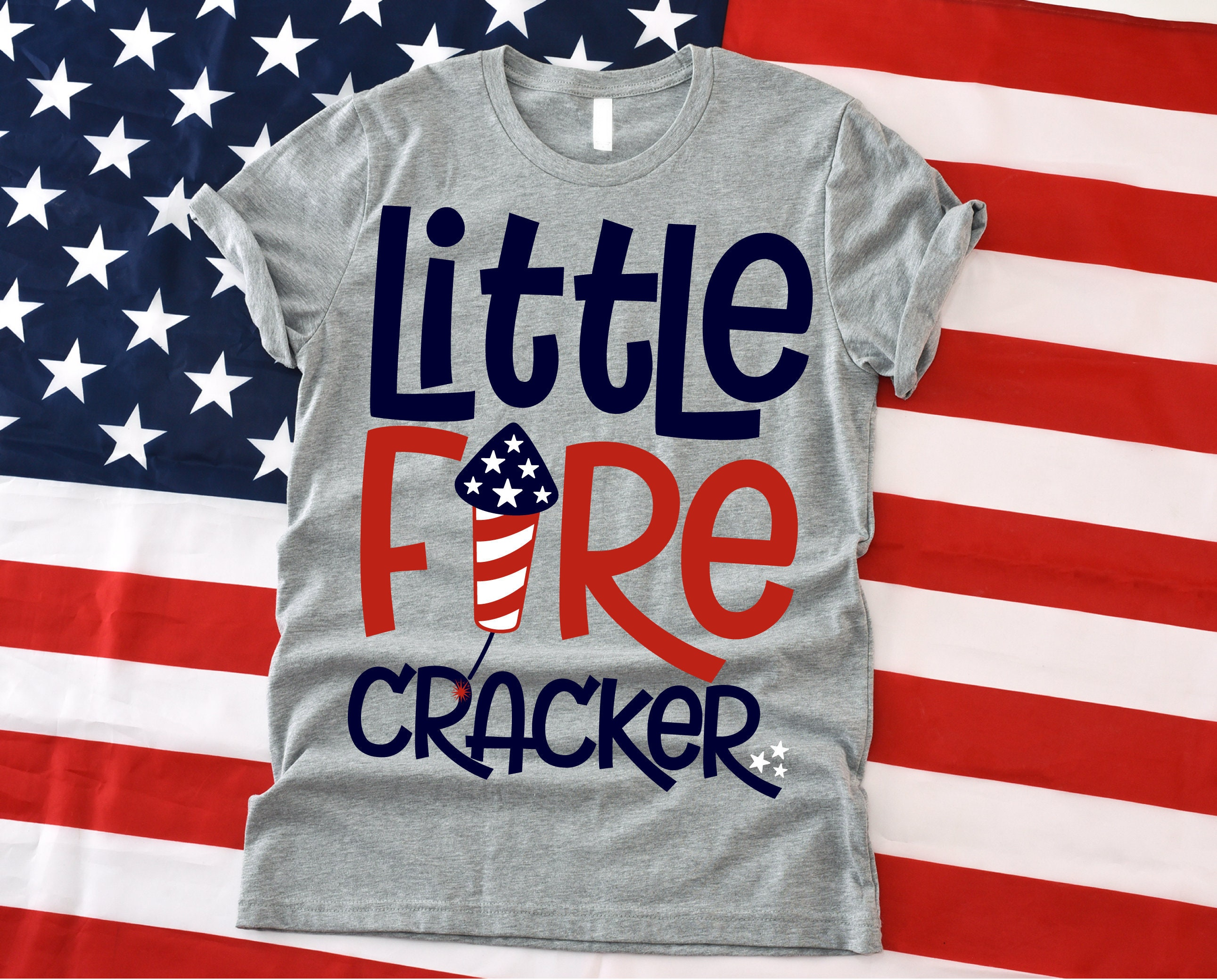 Little Firecracker Svg Red White And Blue Svg Patriotic Svg Etsy