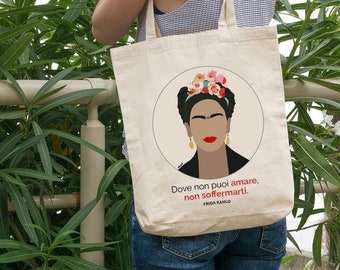 Frida Kahlo (We) men-cotton bag with print