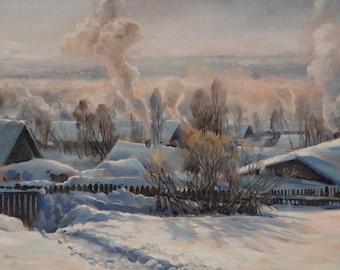 """Winter landscape """"Frosty morning"""""""