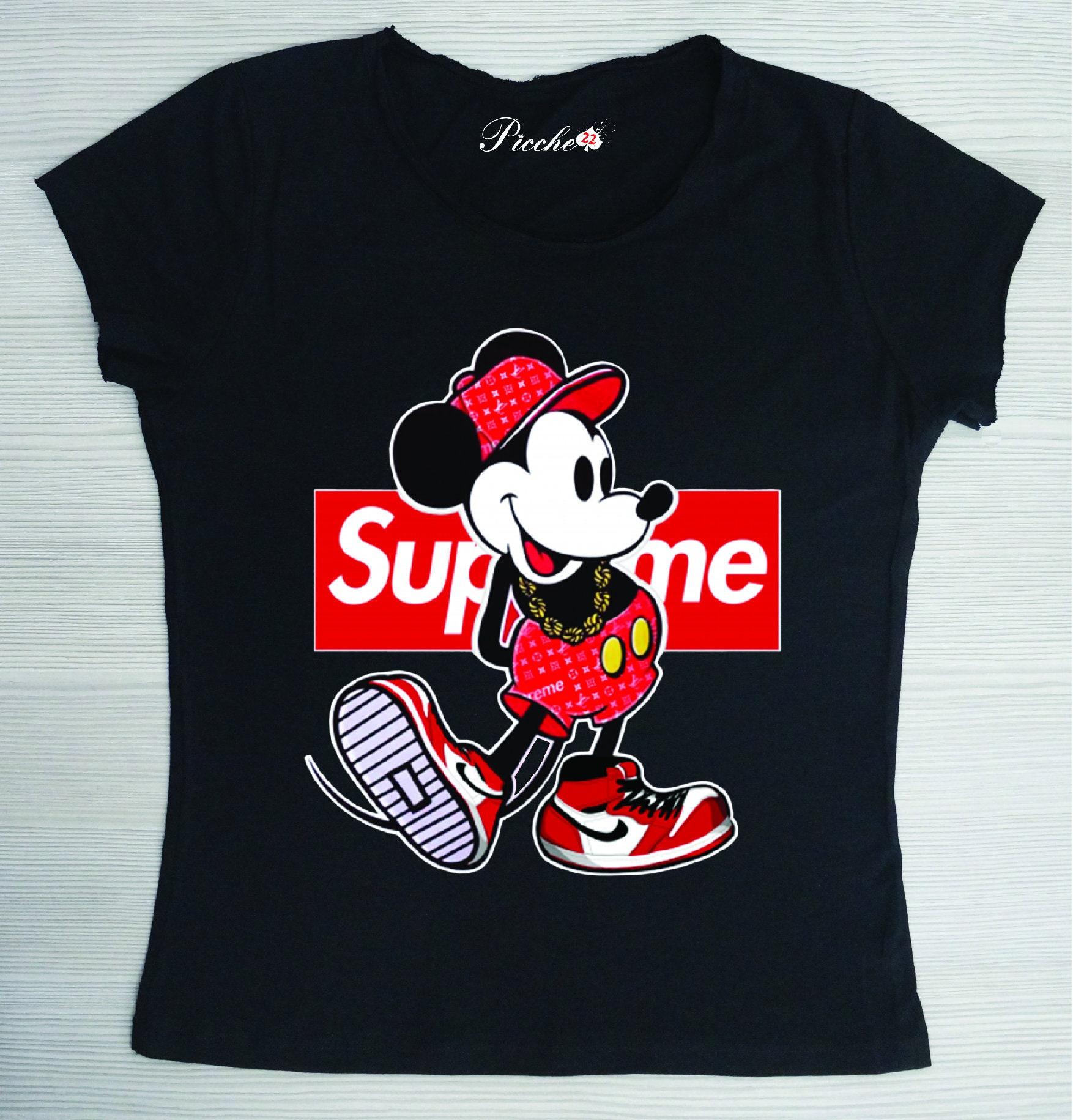 dfdb56c20ced T-Shirt Man or Woman White or Black model: Supreme | Etsy