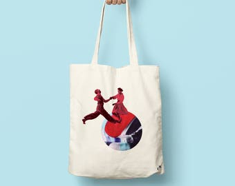 "Tote bag ""Fly me to the moon"""