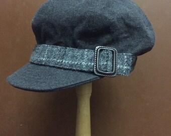 c152a1cb4a5a1 Harris Tweed Newsboy Cap Size Medium Streetwear Fashion
