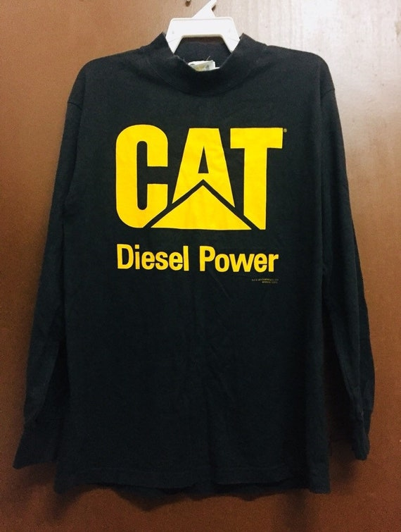 "Cat Diesel Power vintage patch 3/"" x 2/"" Black and Yellow Caterpillar NOS"