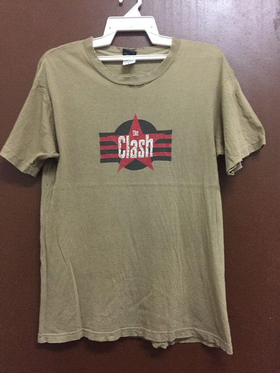 Vintage The Clash British Punk Rock Band Faded Con