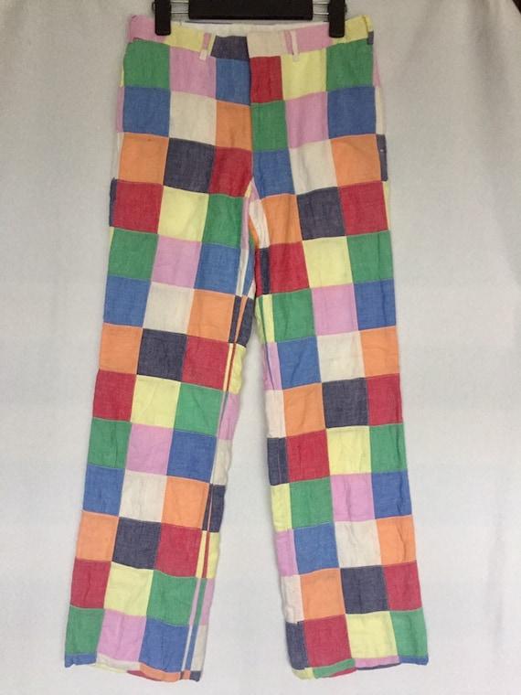 Vintage Patchwork Pants Casual Design Colourfull U