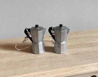 Coffee earrings