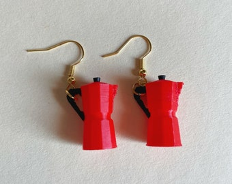 Coffee earrings / miniature accessories / blythe dolls