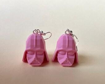 Earrings Darth Vader pink