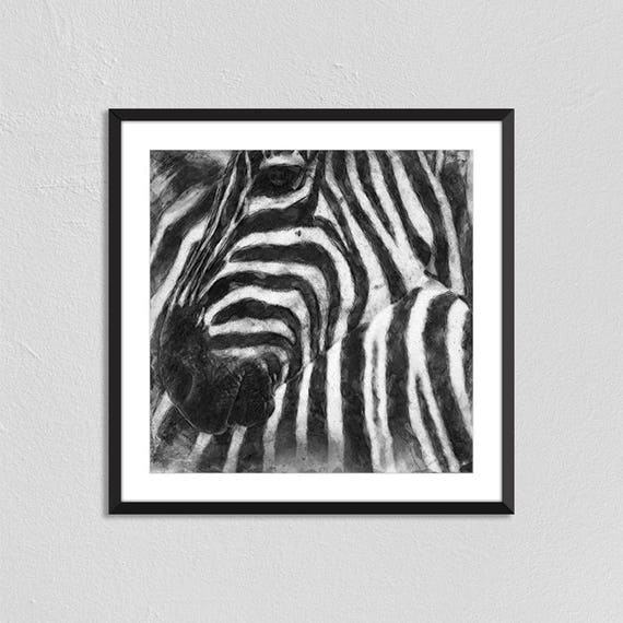 Image of: Images Image Etsy Zebra Square Print Animal Prints Wall Art Home Decor Etsy