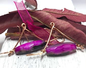 glass beads crystals beige beads Copper bracelet pine tree shape pink agate gem