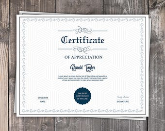 Multipurpose Certificate Template | Printable CERTIFICATE Template | Microsoft Word & Photoshop Template | Instant Download