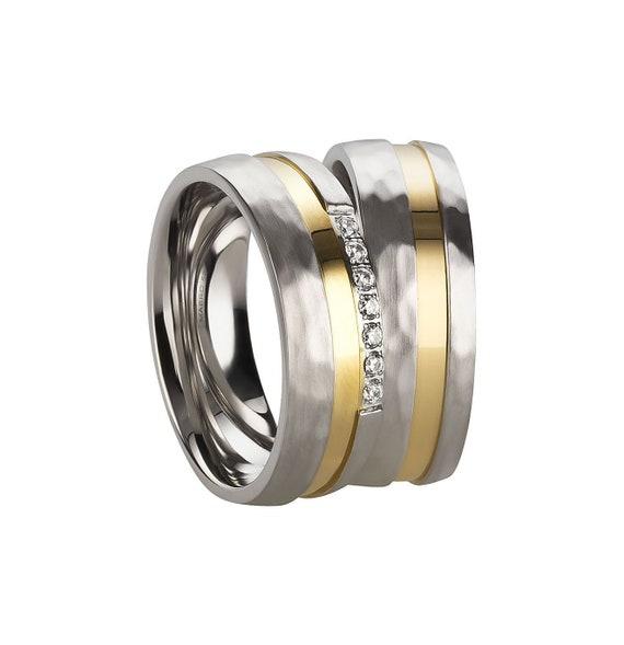 stainless steel partner rings Friendship ring with cubic zirconia wedding rings engagement rings engraving ladies ring
