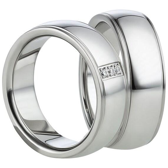 1 anillo de mujer//anillo de bodas//anillo de pareja//anillo-Stein grabado gratis plata incl