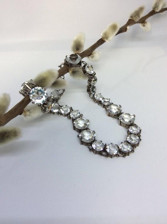 Mid Victorian paste set collar necklace