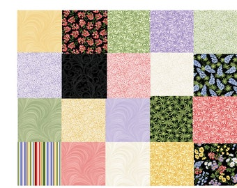 A Wildflower Meadow 100% cotton fabric by Jackie Robinson