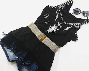 Elegant elastic shimmery gold belt with gold metal buckle Elastic belt Waist belt Elastic waist belt Woman belt Elastic belt for curves