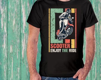 Enjoy the ride. Scooter T-shirt. Vespa scooter T-Shirt - ITALIAN scooter piaggio