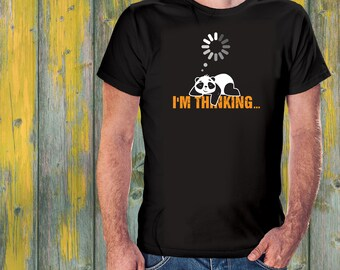 Panda Shirt - I m Thinking Nerd t-shirt. Panda bear shirt. Cute Lazy Panda  T-Shirt - baby panda sleeps 7e78bf95774