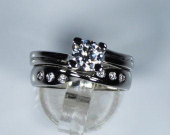 NEW HRD Certified Platinum 0.66ct Diamond Solitaire Engagement Ring Bridal Set Wedding